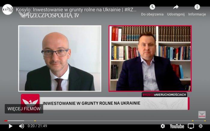 Інтерв'ю Партнера Компанії адвоката Андрія Косило для  Rzeczpospolita TV