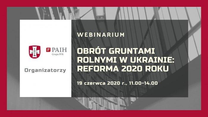Obrót gruntami rolnymi w Ukrainie: reforma 2020 roku